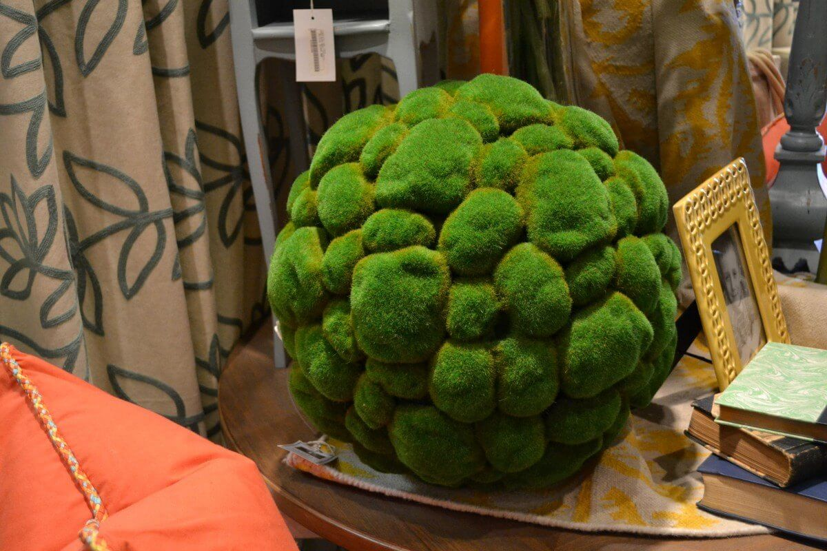 This is a big orb, and definitely adds a pop of color to your table.  Available at Tassels.