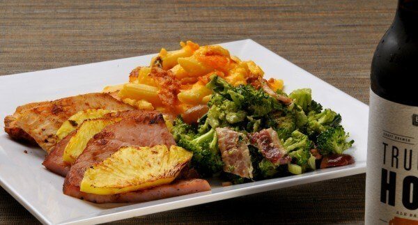 Grilled pineapple ham, broccoli salad and hot cheddar pasta from Urban Cookhouse.