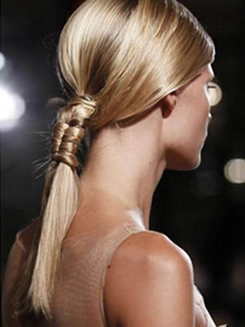 Love the look of this wrapped pony tail from Cult Beauty