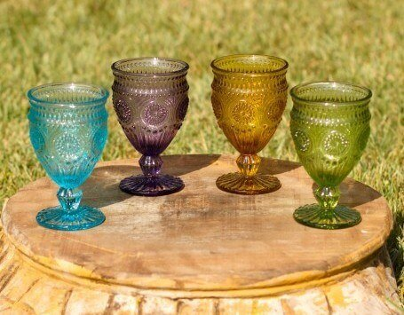 Vintage Goblet- Assorted Colors $0.50/each.