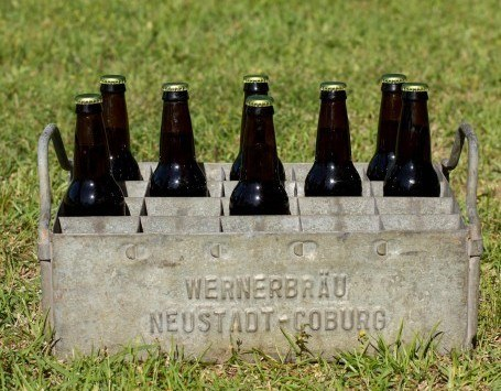 Galvanized Beer Crate.
