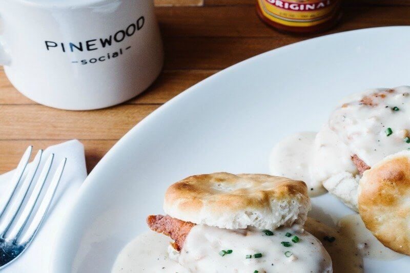 Nothing says brunch like chicken and biscuits with gravy!