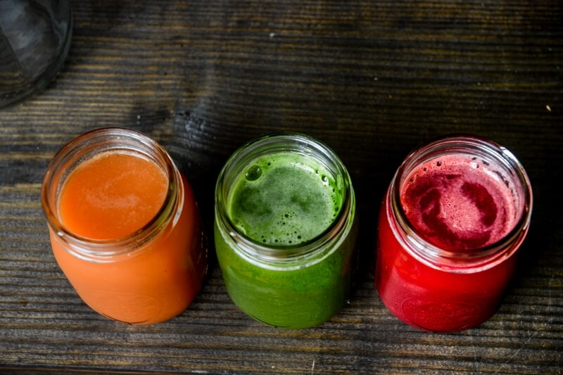At Juice Bar, you can pick up juices or have your own containers filled with your favorite juice!