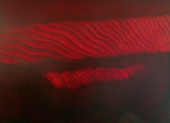 """Wave Clouds at Dawn, oil on canvas, 44""""x60"""", 2012"""