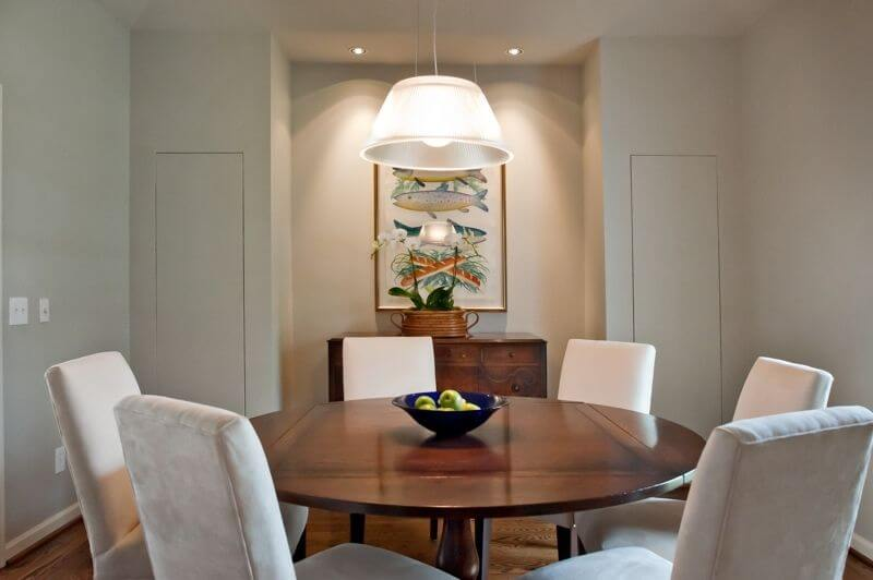 """The """"after"""" dining room."""