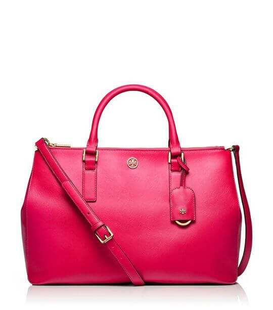 Robinson Double Zip Tote, $575. At Tory Burch.