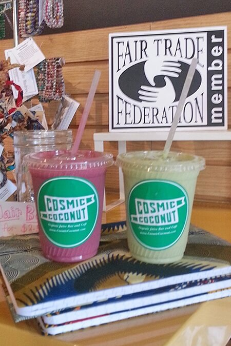Cosmic Coconut smoothies