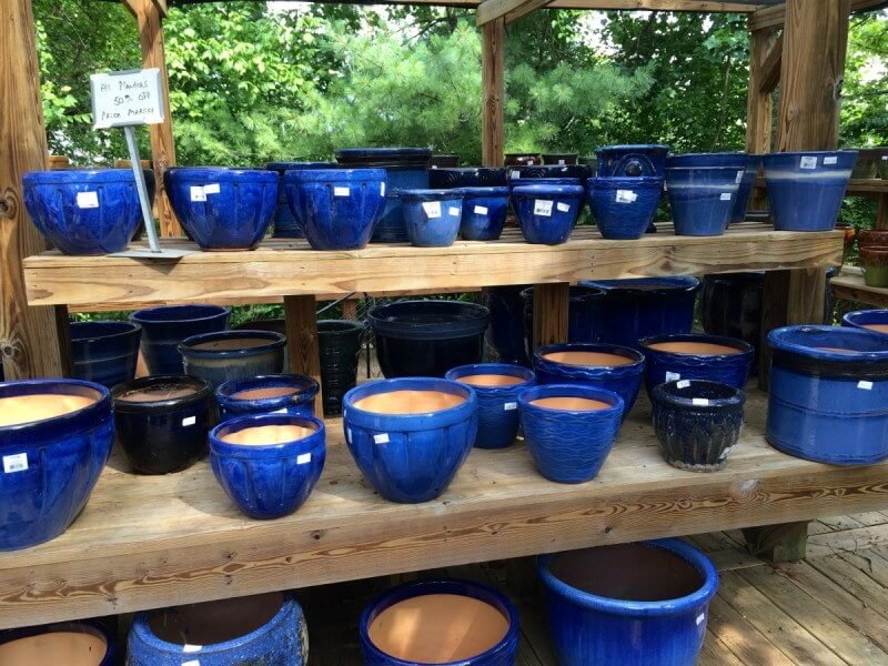 Assorted planters at Creekside Garden Center, $30.