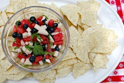 Red, White and Blue Salsa
