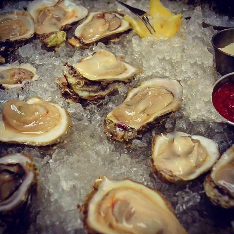 Gulf Oysters on the half shell, half or full dozen, at The Grove Grill