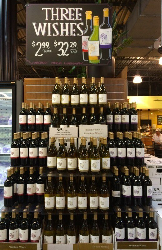 Whole Foods gives us a genie in a wine bottle -- their Three Wishes label grants us all a stocked bar!