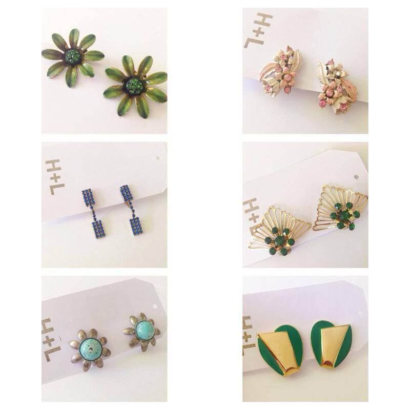 Vintage earrings at Hoot & Louise