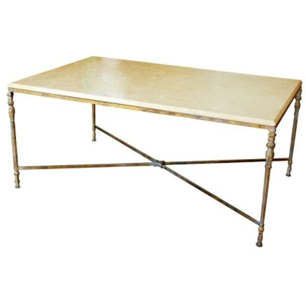 Area 2 Louis XVI marble coffee table