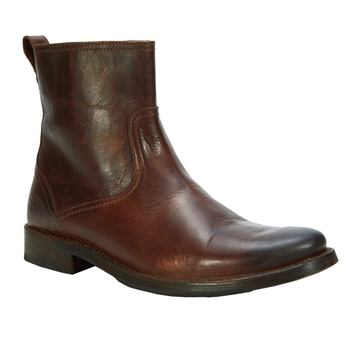 Brown ankle boots are