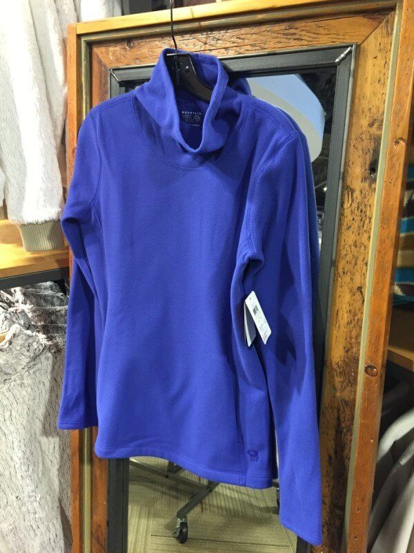 This cowl neck fleece is also made of a wicking material. $ at Alabama Outdoors.