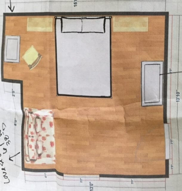 By September, Margaret has the preliminary sketches and space planning done so that she can start filling in details. (Image credit: Margaret Kirkland Interiors)