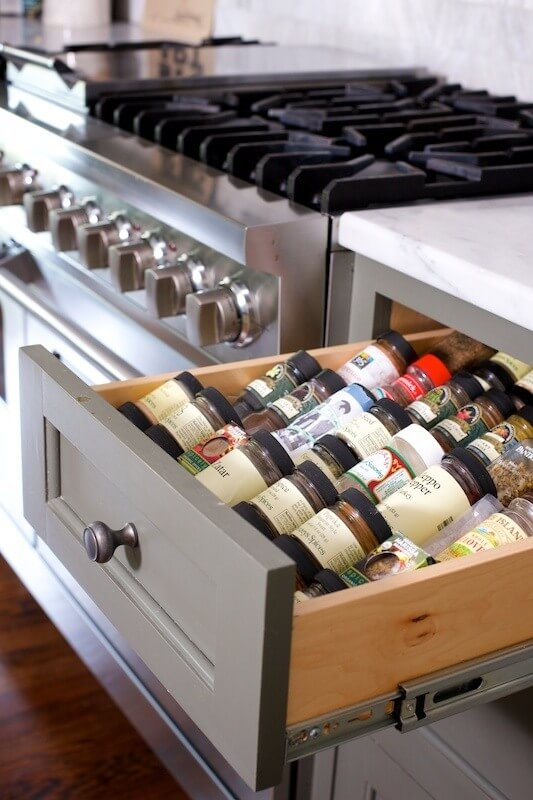 No chef's kitchen is complete without a spice drawer!