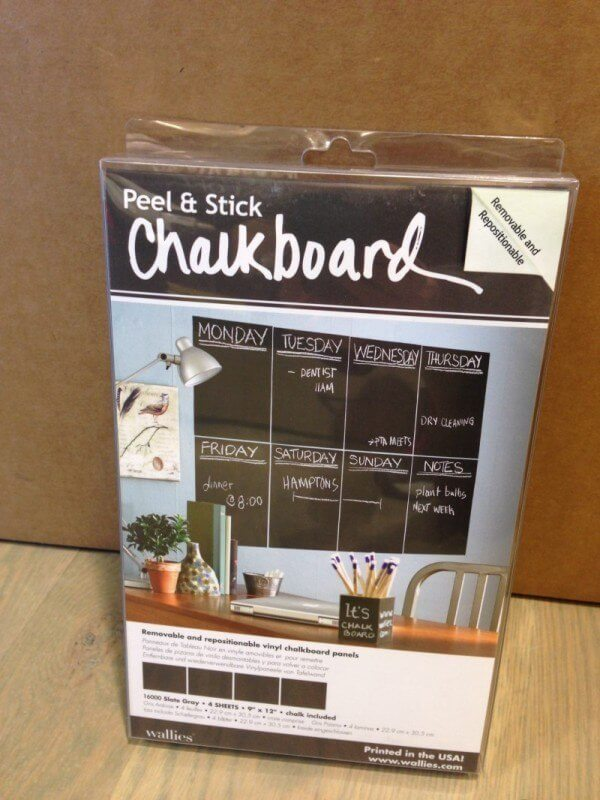 "The removable chalkboard panels keep track of to-do lists, grocery needs and family events. $19.95 at <a href=""http://www.papersource.com"">Paper Source</a>"