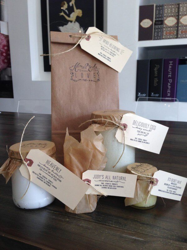 "Along with a detox bath ($15), Homemade with Love products include handcrafted body butter, face scrub and deodorant, all available at <a href=""http://www.simplyputpaper.com"">Simply Put Paper.</a>"