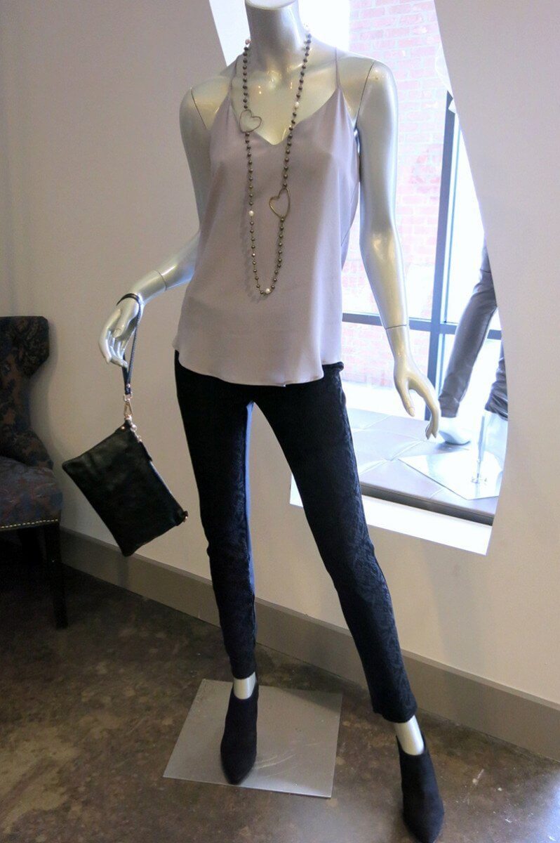 Lavender Brown silk cami with SW3 Bespoke lace leggings at Lavish