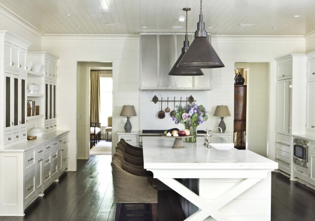 One more from this same house before we move on to our next one. Isn't this kitchen scrumptious? Notice how beautiful and functional it is. From the same house as seen in the photo above this one, this pass through shows that no space should be overlooked. Photography by Erica George Dines, courtesy of Suzanne Kasler: Timeless Style, Rizzoli 2013.