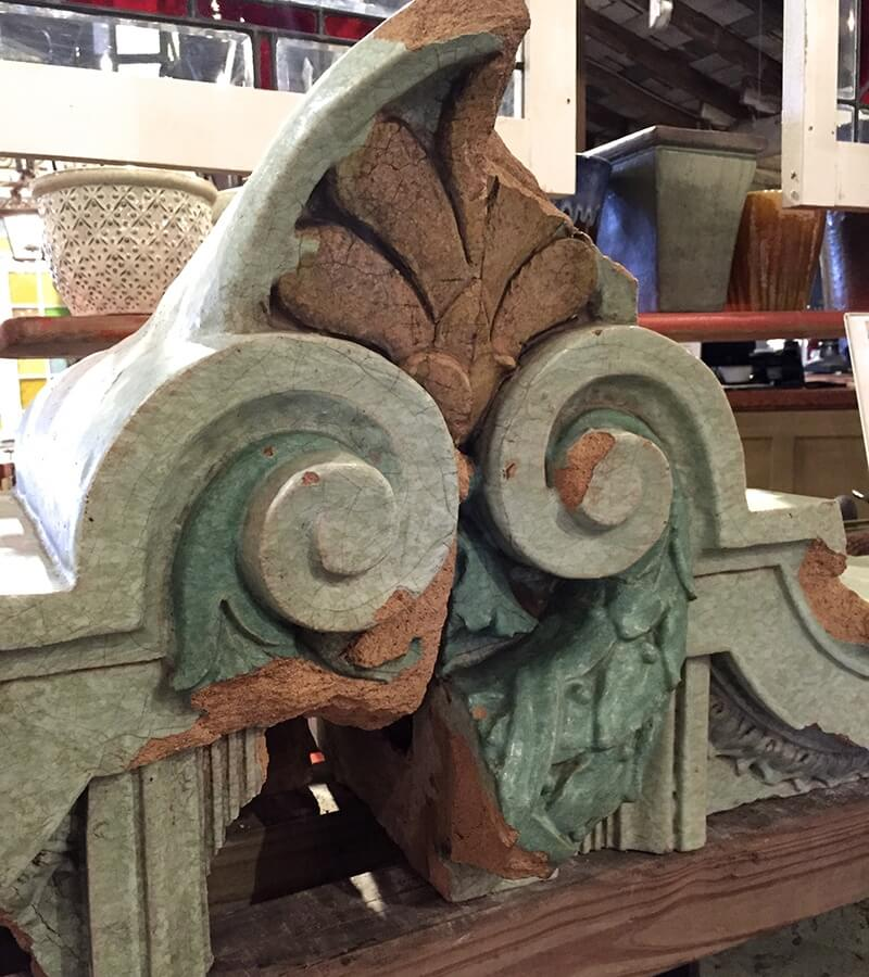 At WaterWorks. architectural pieces from the façade at Anderton's, $300