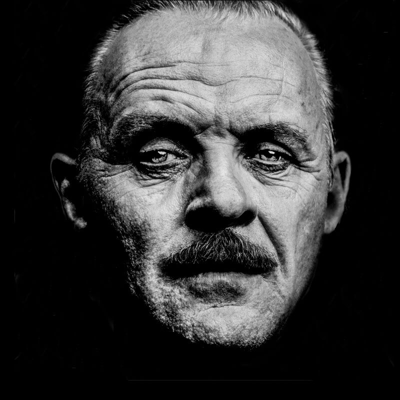 Anthony Hopkins, photographed by Lee Crum