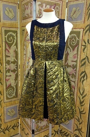 What a great gold and blue dress from Private Label!
