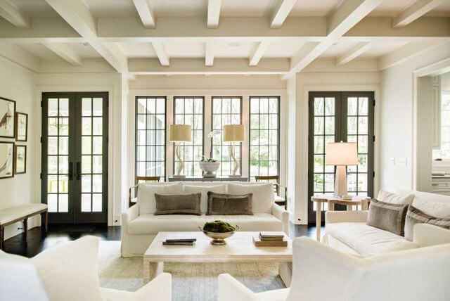 Symmetry is the guiding design principle behind this beautiful living space.