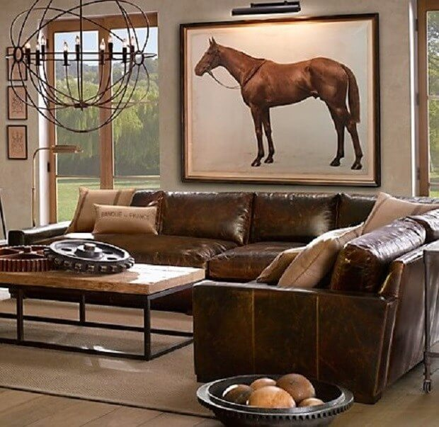 Equestrian Chic:Den with horse art