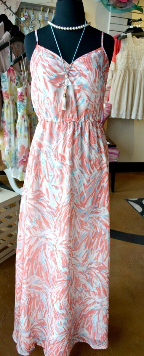 Derby Dresses under $100:Floral Maxi Dress at Crush Boutique for $80.