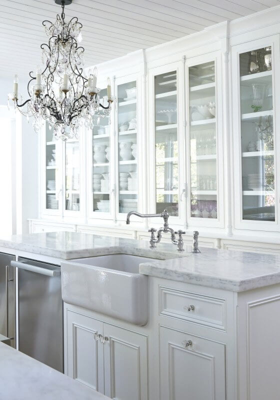 An Elegant White Kitchen! Part Of StyleBlueprintu0027s 17 Beautiful White  Kitchens On StyleBlueprint. Each