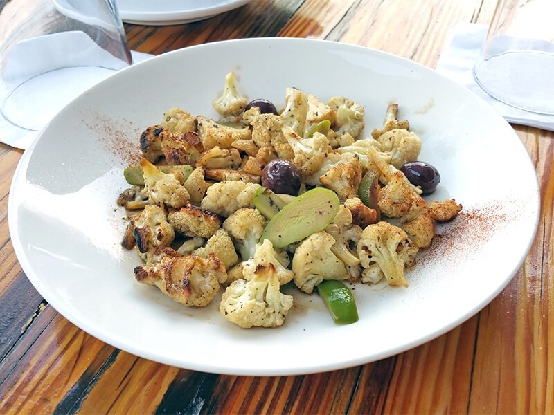 Pan-seared cauliflower at Bettola