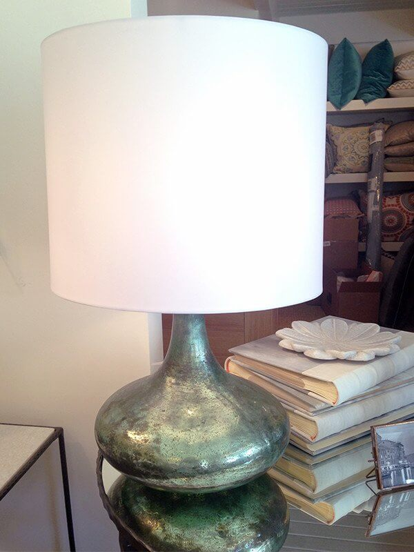 Add this turquoise lamp from Providence Interiors to your bedroom for an instant style boost!