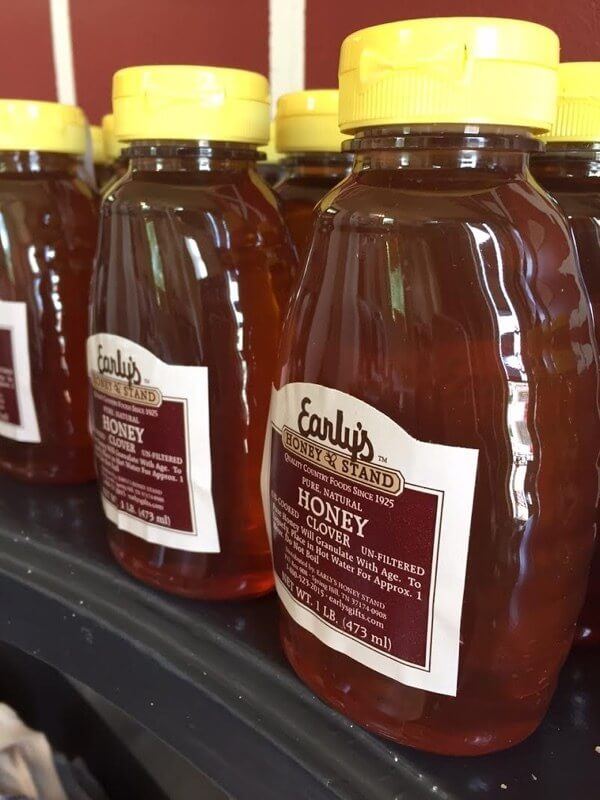 $4.99 for 8-oz bottles at Early's Honey Stand