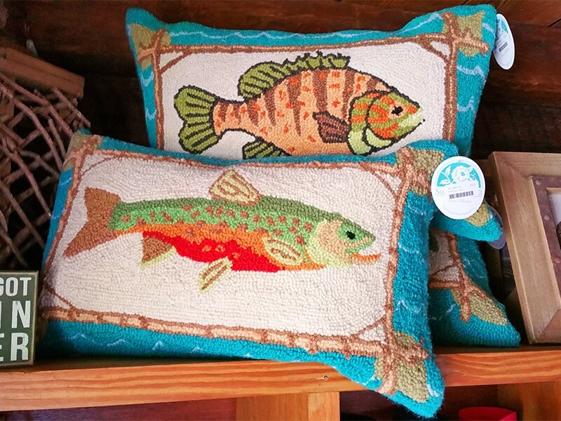 pillows at Lake Martin Company Store in Alabama