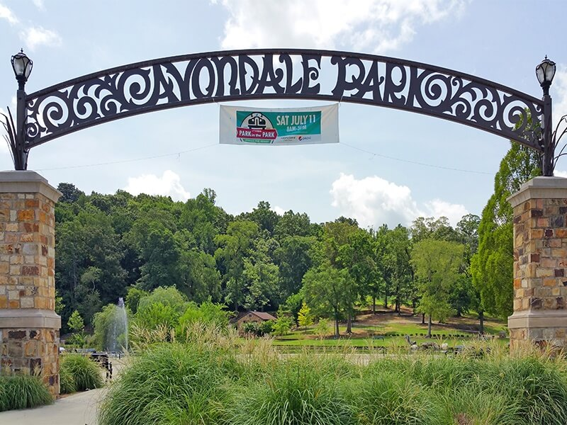 Avondale Park was once home toBirmingham's first zoo. The island in the middle of the pond was once a haven for frolicking monkeys.