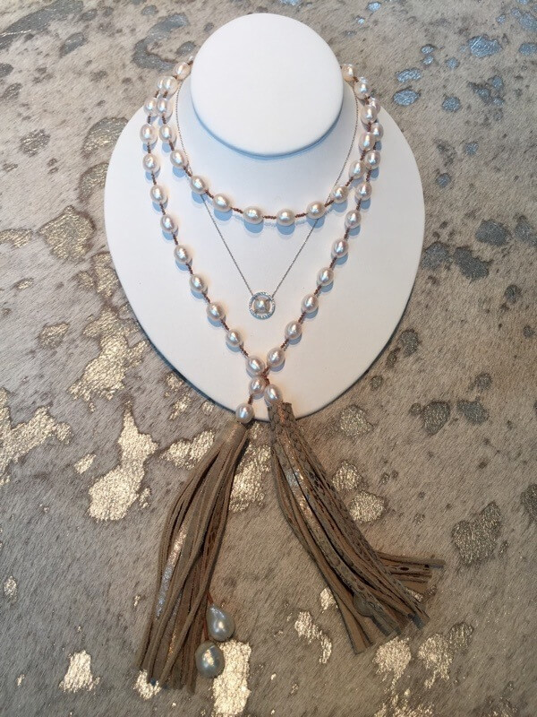 Pearl necklaces from Jordan Alexander in Birmingham, Alabama