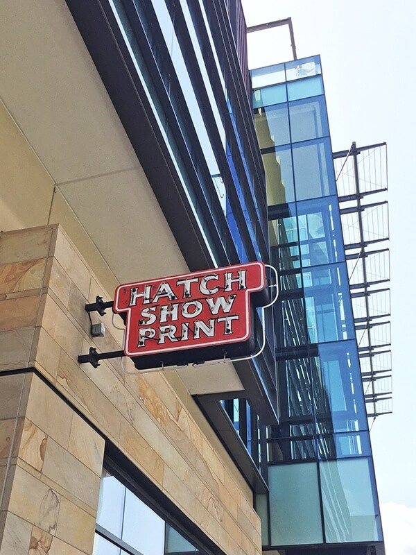 Hatch Show Print in Nashville, TN