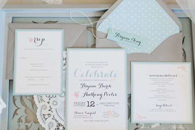A wide catalog of stationery options are available at Royal Flair Events.