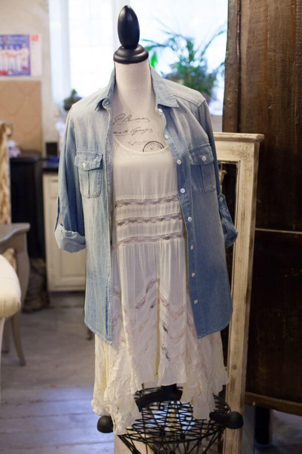 SBP What to Wear Blu Boutique Denim Shirt and Dress
