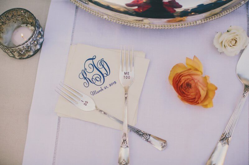 Personal touches increased the romantic feel of this charleston wedding
