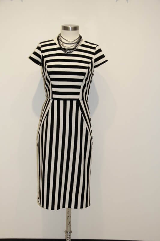 "This striped dress from The French Shoppe is timeless and chic! ""What to wear in Nashville in August"""