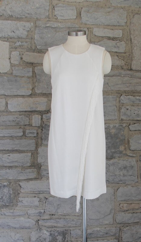 This white Rebecca Taylor shift dress has fringe for extra glamour!