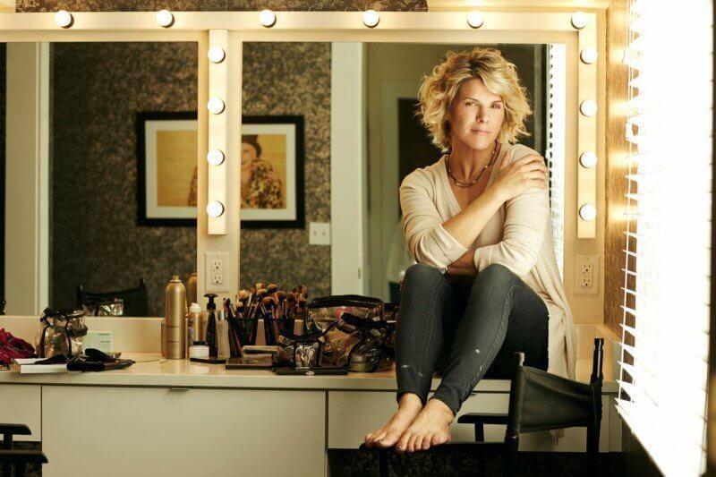 Ashley in the hair/makeup room of White Avenue Studio in Nashville, TN