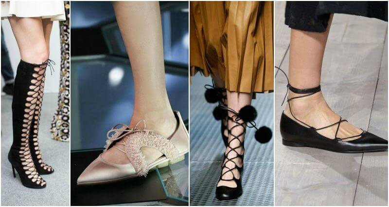 Lace-up shoes hit the runway early this year and we are ready to bring them into fall