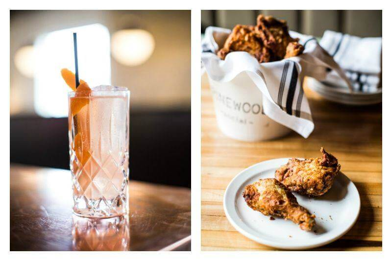 Pinewood Social's cocktails and fried chicken are a great pick!