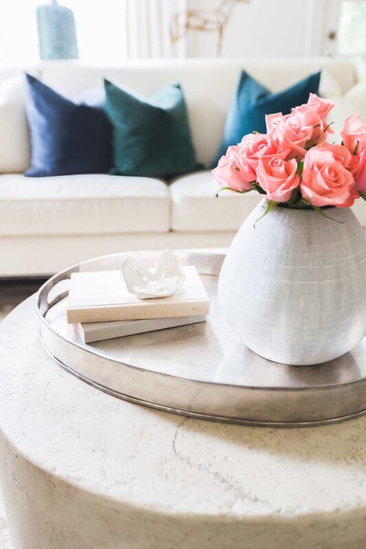 Soft, feminine pinks are echoed throughout the home, creating a truly romantic feel. photo credit: @AlyssaRosenheck