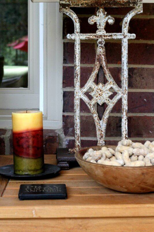 Fall Decorating Ideas on StyleBlueprint: Peanuts make for a fun bowl filler with your fall decor.