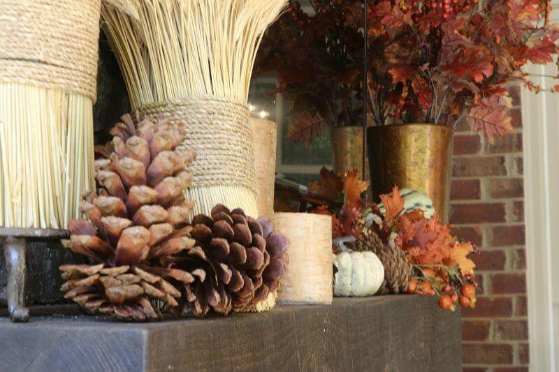 Fall Decorating Ideas on StyleBlueprint: Here is a close up of the mantel if you want to recreate it at your home.